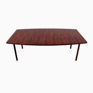 Mid-Century Rosewood Boat Shaped Dining or Conference Table