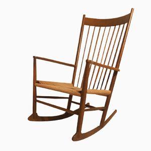 Mid-Century J16 Rocking Chair by Hans Wegner for Kvist Mobler