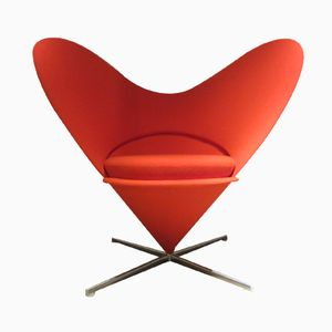 German Heart Cone Chair by Verner Panton for Vitra, 1950s