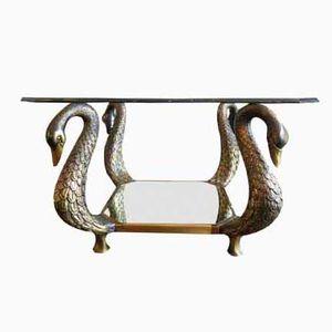 Bronzener Französischer Schwan Tisch, 1980er