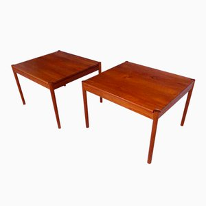 Danish Vintage Teak Side Tables from Magnus Olesen, 1960s, Set of 2