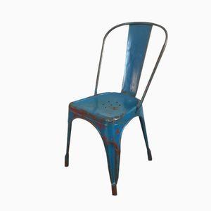 Blauer Französischer Stuhl von Tolix, 1950er