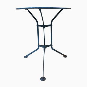 Blauer Vintage Gartentisch