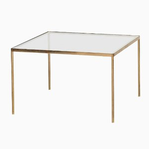 Mid-Century Brass & Glass Coffee Table, 1950s