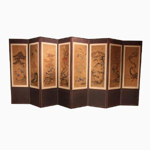 Koreanischer Faltbarer Sichtschutz aus Acht Teilen, 1860er
