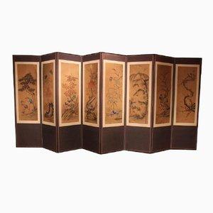 Paravent Pliant avec Huit Panneaux, Corée, 1860s