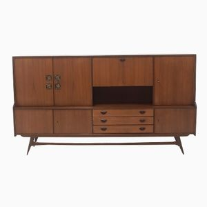 Mid-Century Teak Highboard by Louis van Teeffelen for WéBé, 1956