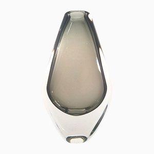 Swedish Sommerso Vase by Nils Landberg for Orrefors, 1950s