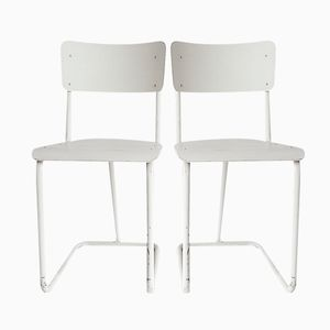 Dutch 107 Chairs by W.H.Gispen for Tubax, 1934, Set of 2