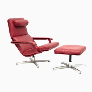 Vintage Easy Chair and Ottoman from Goldsiegel, 1960s