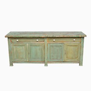 Hungarian Painted Pine Side Cupboard, 1910s