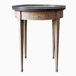 Gebleichter Antiker Bouillotte Tisch