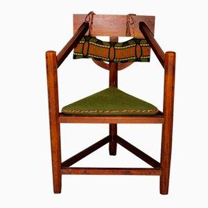 Three-Legged Swedish Armchair, 1920s