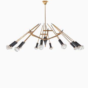 Italienische Deckenlampe von Oscar Torlasco für Lumi, 1958