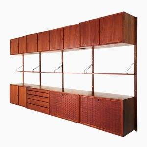 Danish Royal System Wall Shelving Unit by Poul Cadovius for Cado, 1950s