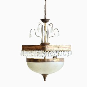 Vintage Frosted Glass Pendant