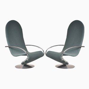 1-2-3 Sessel von Verner Panton für Fritz Hansen, 1970er, 2er Set