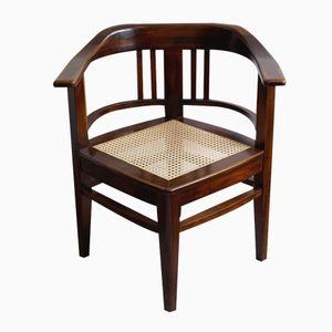 Large Walnut Corner Armchair, 1920s