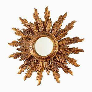 Italian Gilt Wooden Sunburst Mirror, 1930s