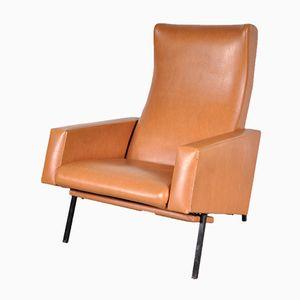 fauteuil noir par pierre guariche en vente sur pamono. Black Bedroom Furniture Sets. Home Design Ideas
