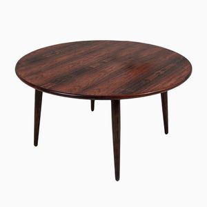 Vintage Round Rosewood Coffee Table