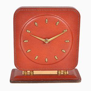Vintage Leder Uhr, 1950er