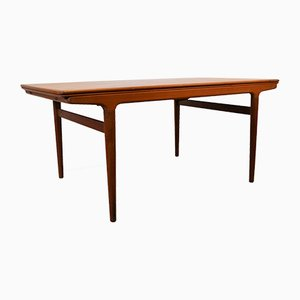 Vintage Teak Extendable Dining Table by Johannes Andersen for Uldum Møbelfabrik