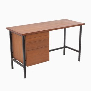 Teak and Steel Typewriters Desk by Florence Knoll for Knoll International, 1960s