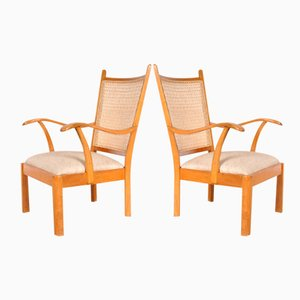 Beechwood Easy Chairs by Bas Van Pelt for My Home, 1940s, Set of 2