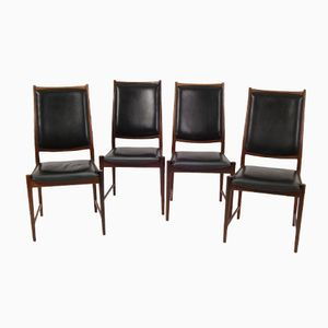 Vintage Norwegian Model Bruksbo Dining Chairs from Nesjestranda Møbelfabrikk, Set of 4