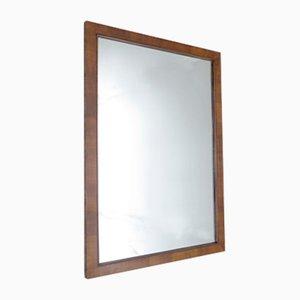 Miroir art d co avec cadre en bois dor et argent en for Grand miroir deco