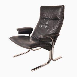 Schweizer DS-2030 Sessel aus Leder und Chrom von De Sede, 1960er