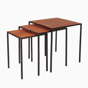Vintage Reversible Nesting Tables by Cees Braakman for Pastoe, Set of 3