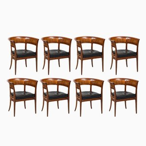 Danish 4395 Armchairs by Kaare Klint for Rud Rasmussen, 1916, Set of 8