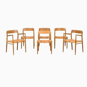 Model 56 Dining Chairs by Niels O. Møller for J.L Møllers, Set of 6