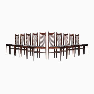 Mid-Century Dining Chairs Model 422 by Arne Vodder, Set of 10