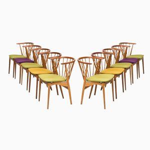 Mid-Century Esszimmerstühle von Helge Sibast, 10er Set