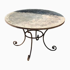 Table de Jardin Vintage en Terracotta