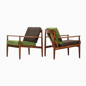 Mid-Century Easy Chairs by Grete Jalk for France & Son, Set of 2