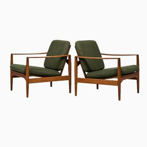 Easy Chairs by Illum Wikkelsø for Niels Eilersen, Set of 2