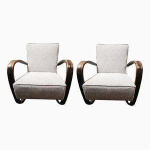 Czech Easy Chairs by Jindrich Halabala, Set of 2
