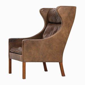 Echtleder zweisitzer sofa 2212 von b rge mogenden f r for Ohrensessel 2er