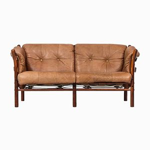 Cognac Ilona Sofa by Arne Norell for Arne Norell AB