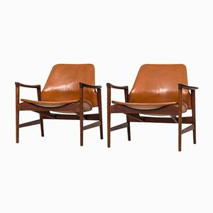 Holte Easy Chairs by Ib Kofod-Larsen for OPE, Set of 2