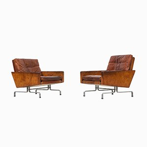 Danish PK-31/1 Easy Chairs by Poul Kjærholm for E. Kold, 1958, Set of 2