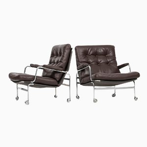 Karin Easy Chairs by Bruno Mathsson for DUX, Set of 2