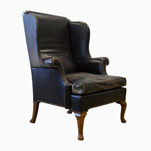 English Chesterfield Wing Chair with Cabriole Legs, 1920s