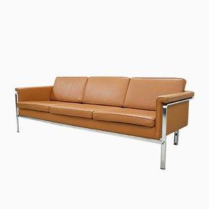 German 6913 Cognac Leather Sofa by Horst Brüning for Kill International, 1960s