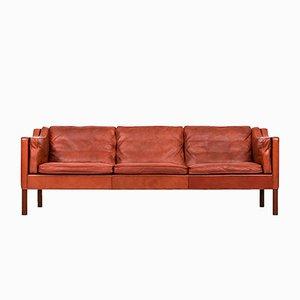Rotbraunes 2213 Sofa von Børge Mogensen für Fredericia