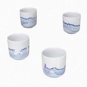 Mugs Tide de the Blue Sunday Series par Anna Badur, Set de 4